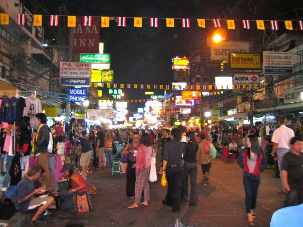 Bangkok sokak manzarası