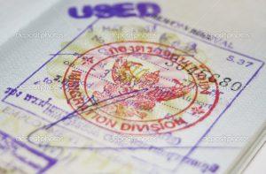 Passport with Thailand visa