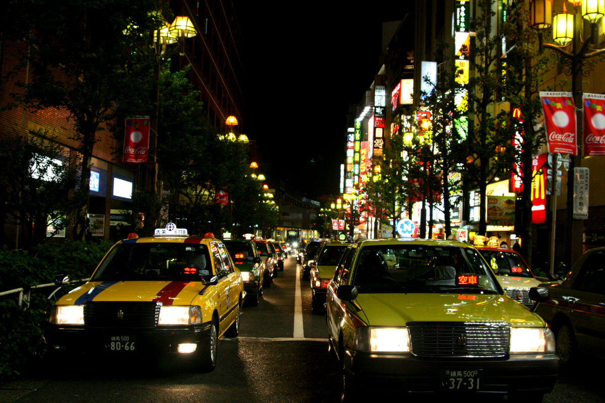 japonya taksi